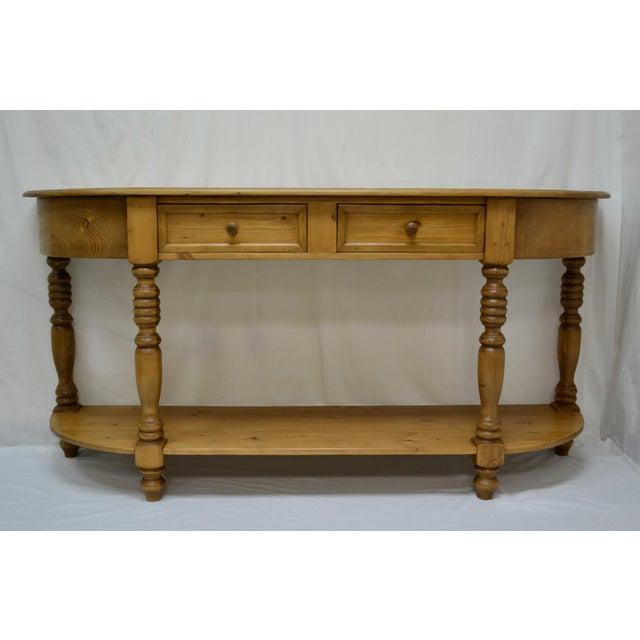 Vintage English Style Pine D-End Server For Sale - Image 9 of 9