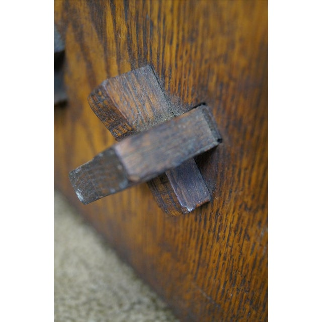 Antique Mission Oak Book Rack - Image 8 of 10