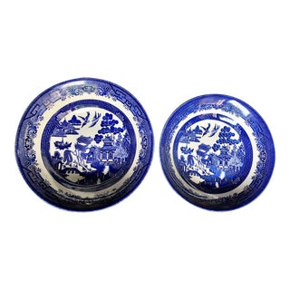 Staffordshire Pagoda Bowls - A Pair For Sale