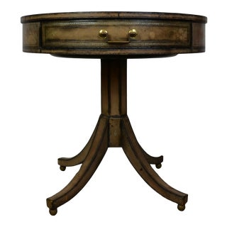 Leather Side Table by Maitland Smith For Sale