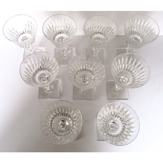 Art Deco Hawkes Champagne/Sherbet Crystal Stems - Set of 9 For Sale - Image 3 of 10