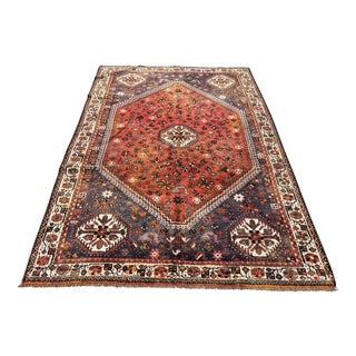 "Vintage Shiraz Area Rug - 5'7""x8'2"" For Sale"