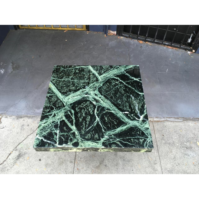 1970s Italian Verde Green Marble Side Table For Sale In Los Angeles - Image 6 of 10