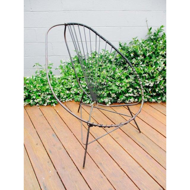 Mid-Century Modern Iron Acapulco Chair - Image 4 of 5