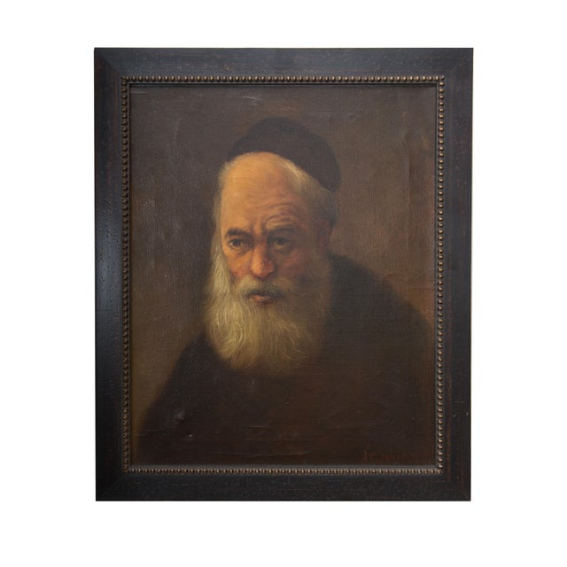 Oil Painting of a Religious Figure in Regalia For Sale - Image 4 of 4