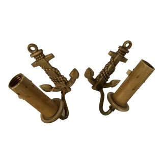 Antique Metal Anchor Wall Sconces - A Pair For Sale