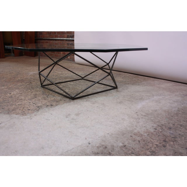 Directional Milo Baughman for Directional Geometric Bronze Coffee Table For Sale - Image 4 of 13