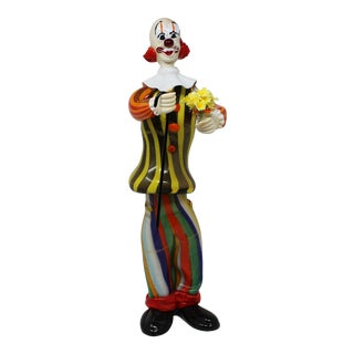 Dario Frare Murano Glass Clown For Sale