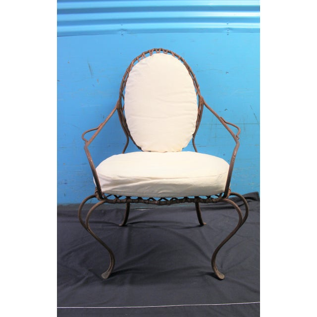 Rose Tarlow Rose Tarlow Twig Iron Garden Armchairs & Table Base For Sale - Image 4 of 10