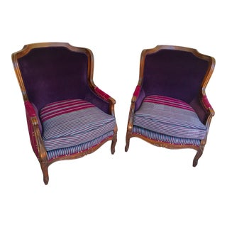 French Provincial Ethnic Chairs - a Pair