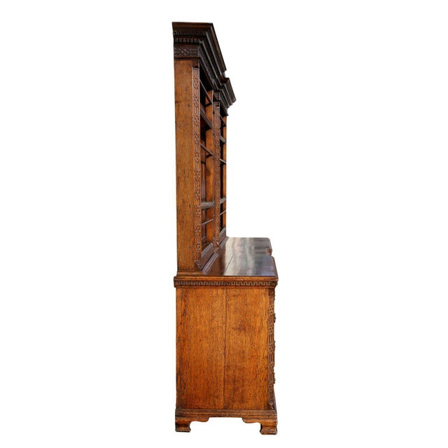 Brown George III Oak And Inlaid Cupboard/ Dresser For Sale - Image 8 of 10