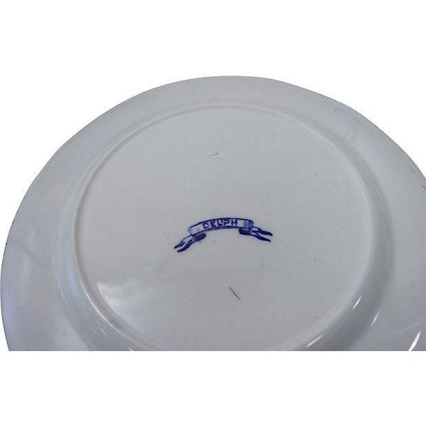 Antique Flow Blue Dessert Plates - Set of 12 - Image 2 of 2