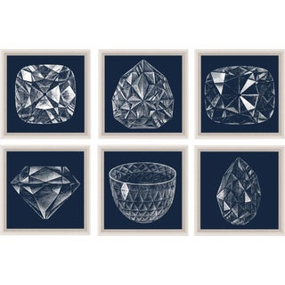 Diamonds, Framed Artwork - Set Of 6 For Sale