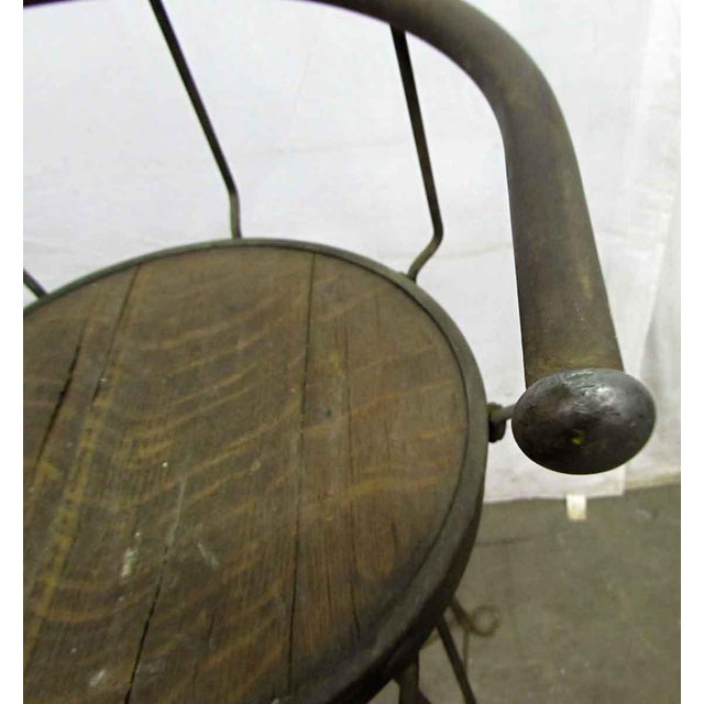 Unique Traditonal Industrial Cast Iron High Stool For Sale - Image 4 of 10