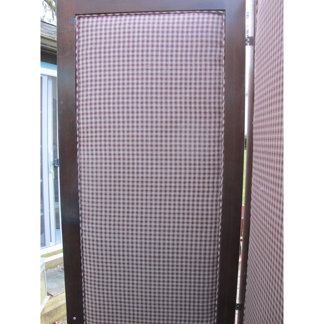 Antique Fabric Covered Folding Screen For Sale In Philadelphia - Image 6 of 6
