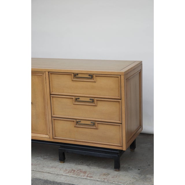 Mid Century American of Martinsville Large Bleached Mahogany Dresser For Sale In Los Angeles - Image 6 of 10