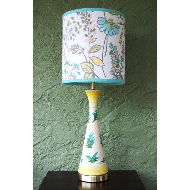 Vintage f.a.i.p. Tropical Chalkware Lamp W/ Custom Shade - Image 2 of 11