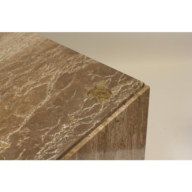 Stone 1970s Travertine Tables - a Pair For Sale - Image 7 of 8