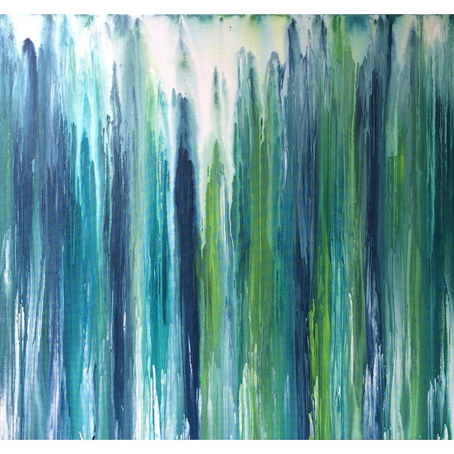 'Waterfall' Abstract Painting by Linnea Heide For Sale