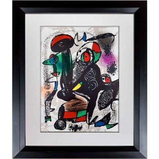 1981 Joan Miro Original Color Lithograph For Sale