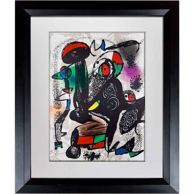 1981 Joan Miro Original Color Lithograph For Sale