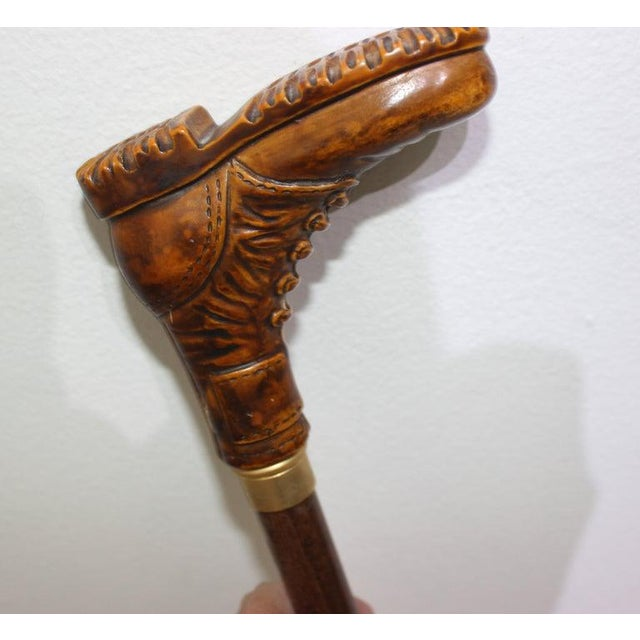 Vintage Walking Stick Boot Handle For Sale In West Palm - Image 6 of 12