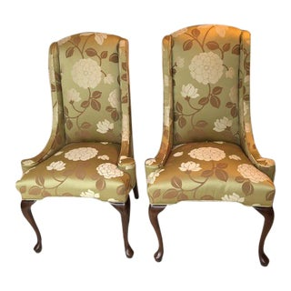 Pair of Harden Beautiful Upholstered Host Chairs For Sale