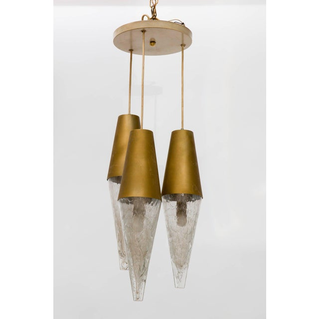 Mid-Century Modern German Midcentury Staggered Pendant Fixture For Sale - Image 3 of 8