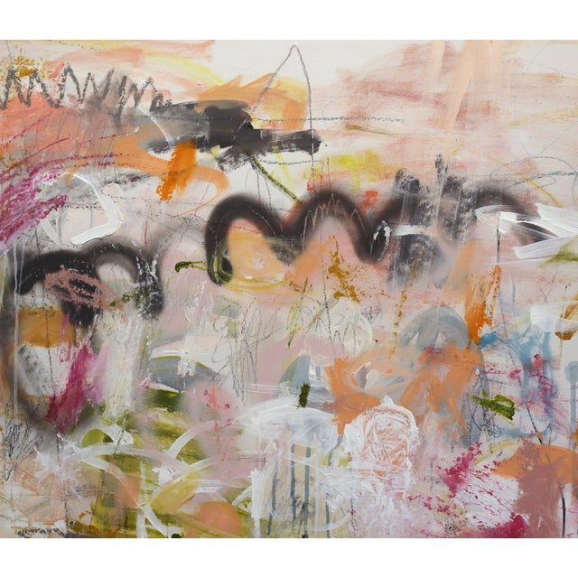 Large scale abstract painting with an urban industrial, minimalist, street or pop art edge. Contemporary Los Angeles...