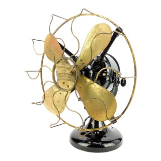 1908 Robbins & Myers Tank Desk Fan For Sale