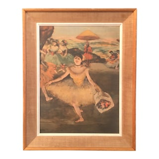 'Dancer With Bouquet' Degas Painting Print For Sale