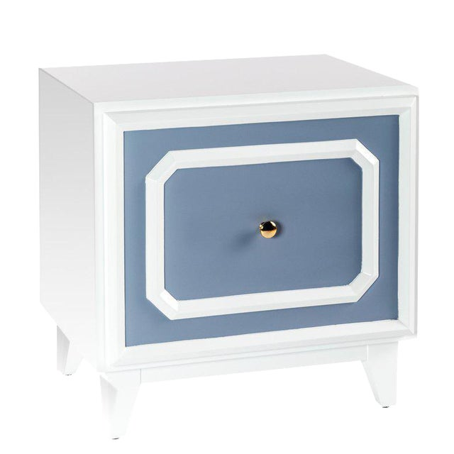 Statements by J Pattison Wooden Nightstand For Sale