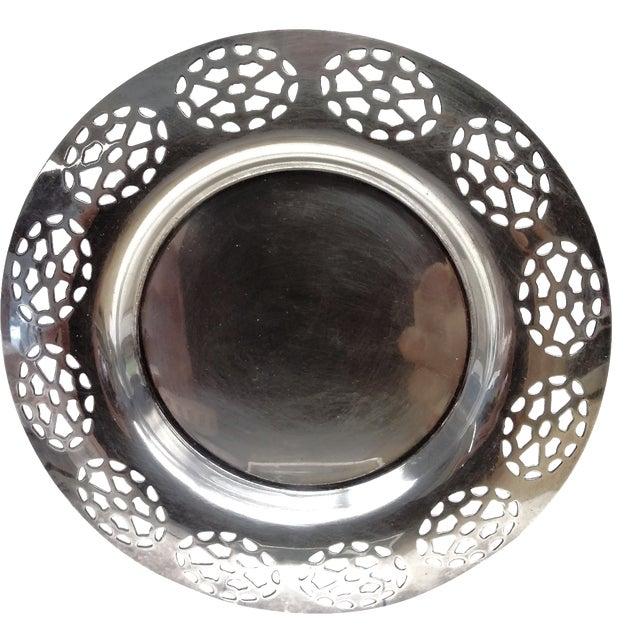 Oneida Silver Cutout Wine Plate - Image 1 of 10