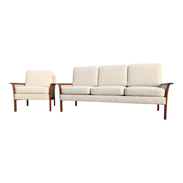 Mid Century Modern Danish Sofa & Chair by Hans Olsen