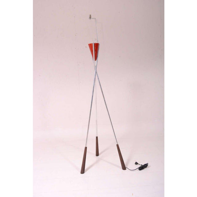 Mid Century Modern Tripod Floor Lamp For Sale - Image 9 of 9