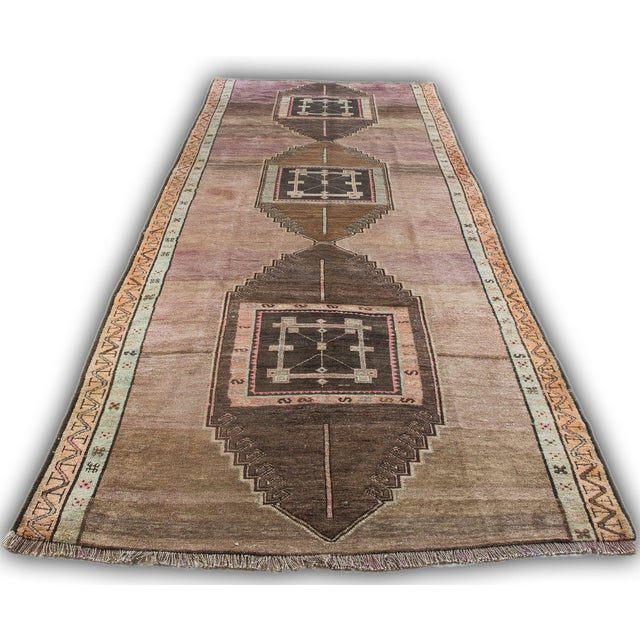 """Turkish Hand-Knotted Runner Rug - 5'7"""" x 13'9"""" - Image 2 of 11"""