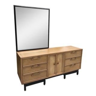 Mid Century American of Martinsville Nine Drawer Credenza Dresser For Sale