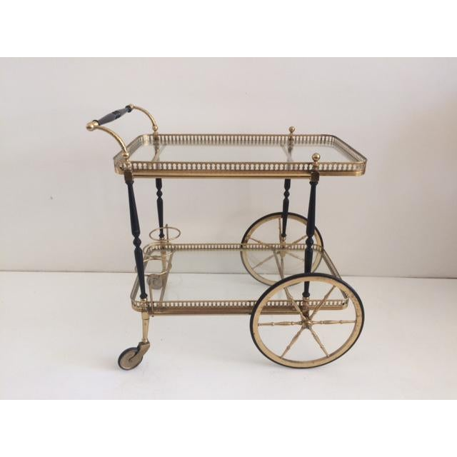 French French Bar Cart From the 1940's For Sale - Image 3 of 10