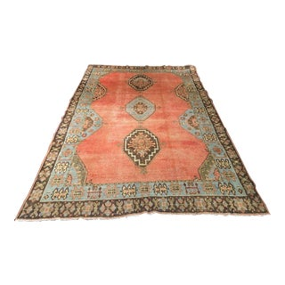 "Bellwether Rugs ""Georgetown"" Vintage Turkish Oushak Area Rug - 9'1""x5'8"" For Sale"