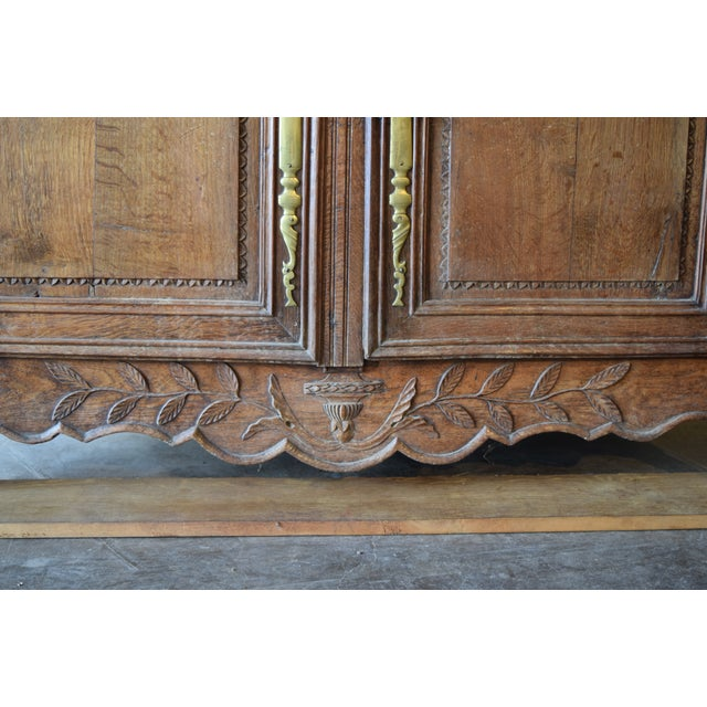 Metal Antique French Oak Double Buffet, Circa 1860 For Sale - Image 7 of 13