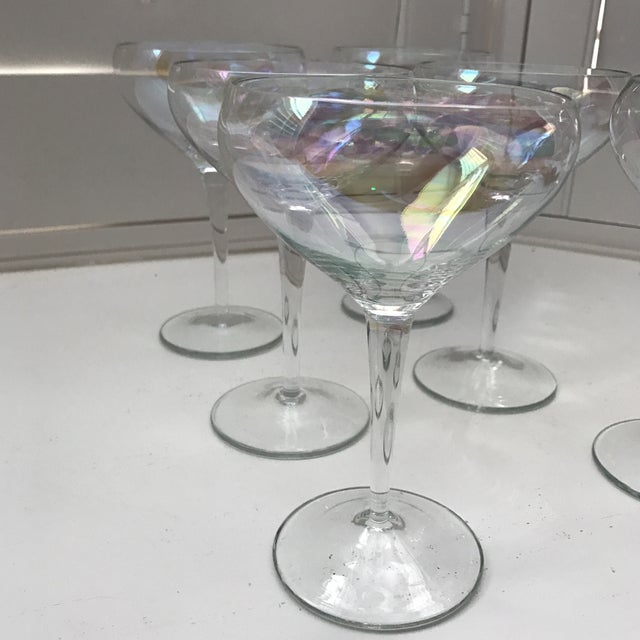 Opalescent Champagne Coupes - Set of 6 - Image 7 of 8