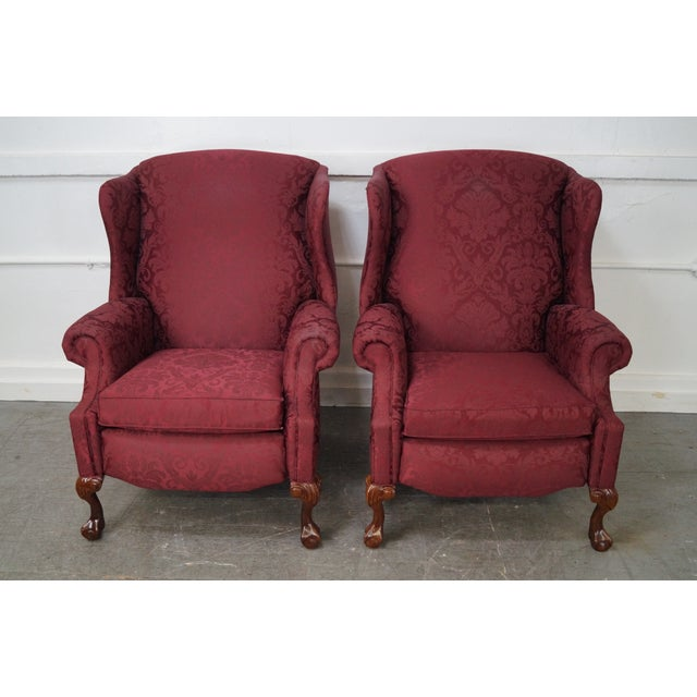 Hancock & Moore Chippendale Wing Chairs - Pair - Image 6 of 10