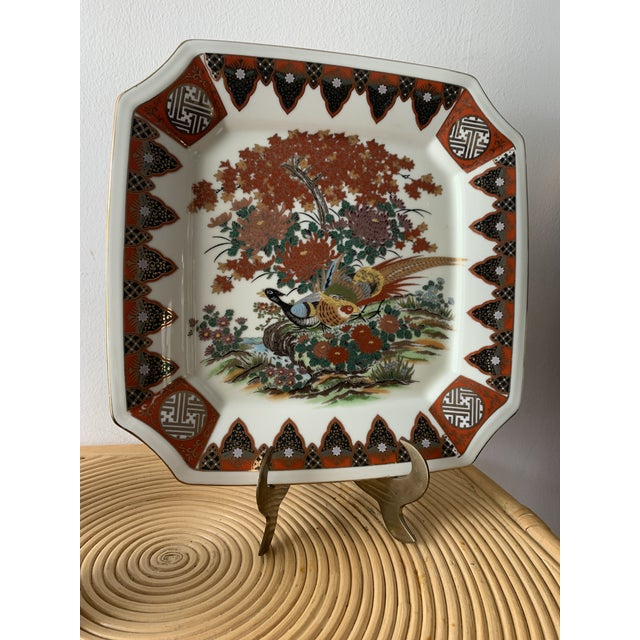 1970s Japanese Decorative Peacock Plate For Sale In Miami - Image 6 of 8