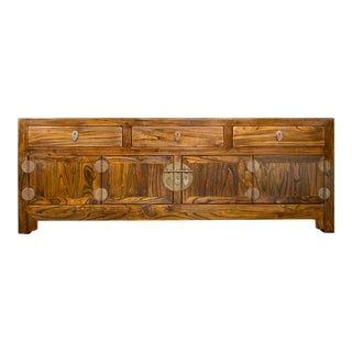 Chinese Low Kang Chest Cabinet With Drawers For Sale