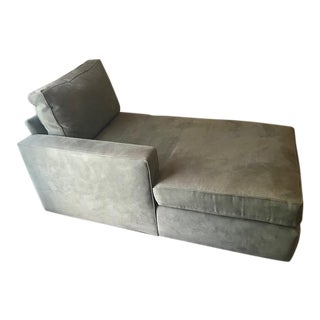 Room and Board Suede Chaise Lounge
