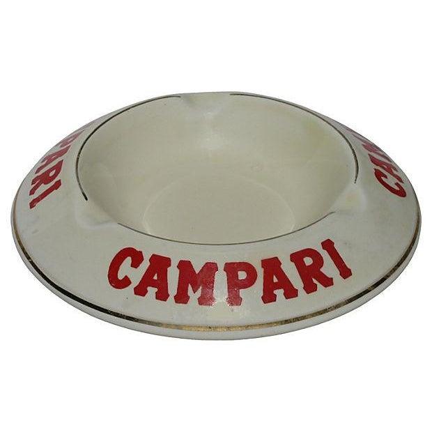 Vintage French Campari Bistro Ashtray - Image 2 of 3