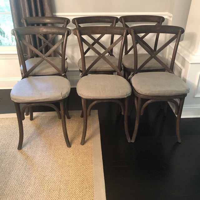 Gray Thonet Styled Restoration Hardware Dining Chairs-Set of 6 For Sale - Image 8 of 13