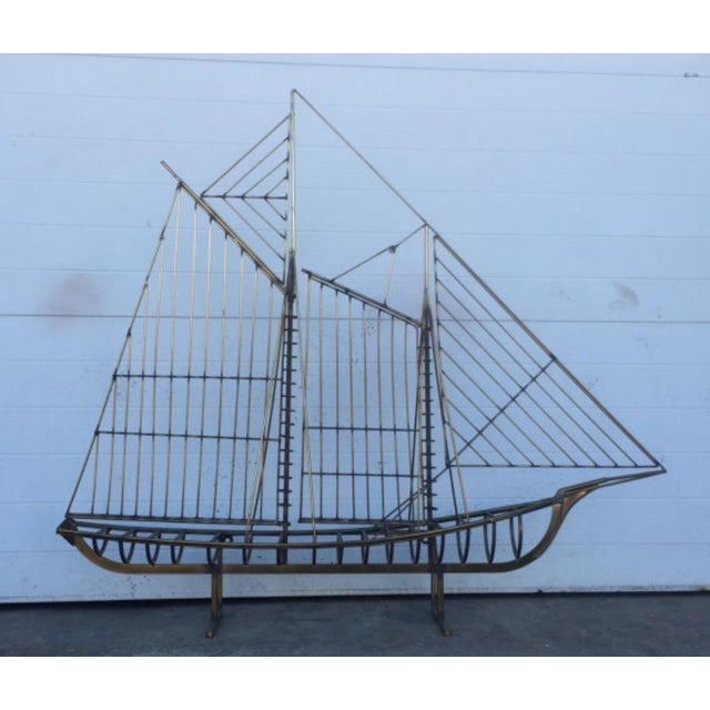 Curtis Jere Brass Boat Sculpture - Image 2 of 6