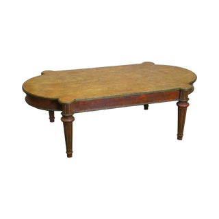Custom Faux Painted French Louis XVI Style Coffee Table For Sale