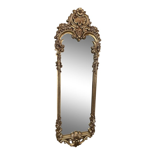 Baroque Carved Gilded Giltwood Mirror For Sale